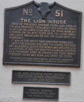 The Lion House Marker image. Click for full size.