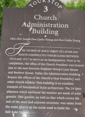 Church Administration Building Marker image. Click for full size.