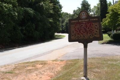 Liberty Methodist Church Marker, looking south along Liberty Church Road image. Click for full size.