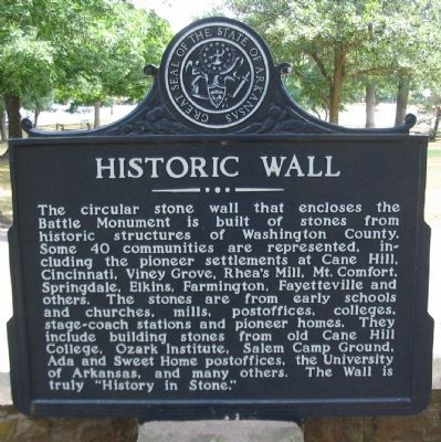 Historic Wall Marker image. Click for full size.