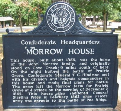 Morrow House Marker image. Click for full size.