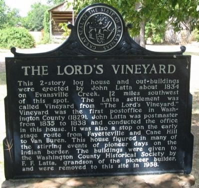 The Lord's Vineyard Marker image. Click for full size.