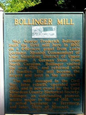 Bollinger Mill/Burfordville Covered Bridge Marker image. Click for full size.