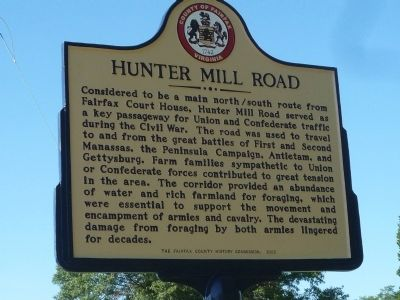 Hunter Mill Road Marker image. Click for full size.