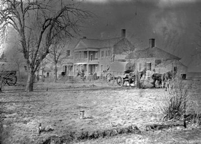 Falmouth, Virginia (vicinity). Major Lacy's house opposite Fredericksburg. View from the south image. Click for full size.