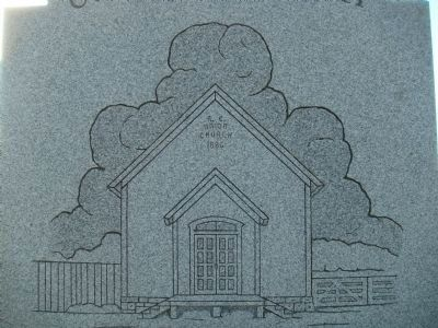 Closeup of Union Church Drawing on Marker image. Click for full size.