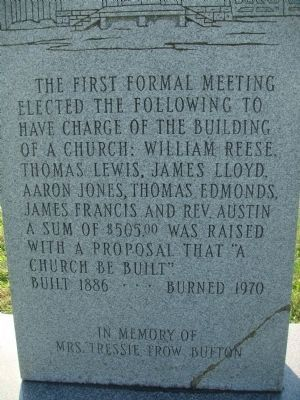 Closeup of Inscription on Union Church Marker image. Click for full size.