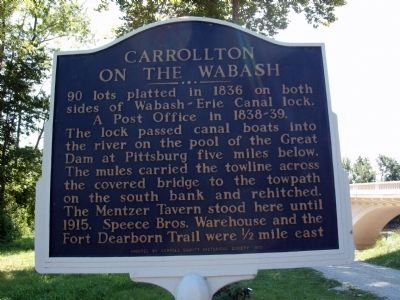 Carrollton on the Wabash Marker image. Click for full size.