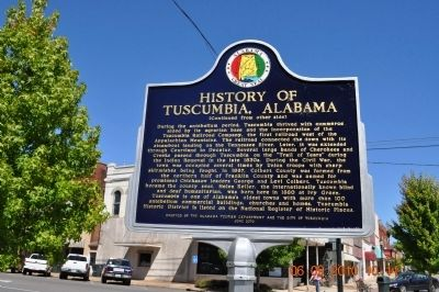 History of Tuscumbia Alabama Marker (side 2) image. Click for full size.