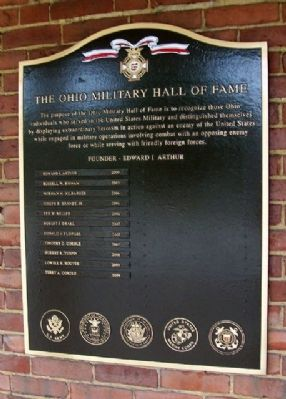 The Ohio Military Hall of Fame Marker image. Click for full size.