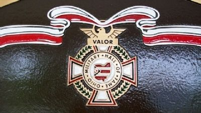 The Ohio Military Hall of Fame Medal image. Click for full size.