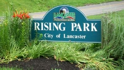 Rising Park Sign on High Street image. Click for full size.