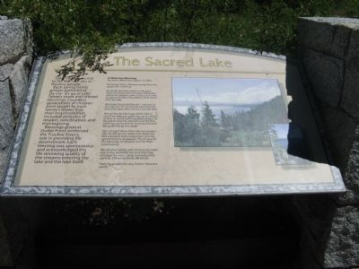 The Sacred Lake Marker image. Click for full size.