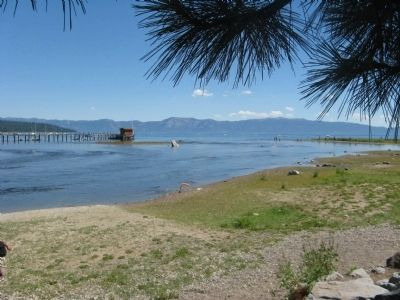 Lake Tahoe and the Truckee River Outlet image. Click for full size.