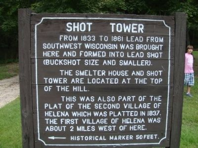 Shot Tower Sign image. Click for full size.