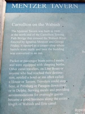 Text Section - - Mentzer Tavern Marker image. Click for full size.