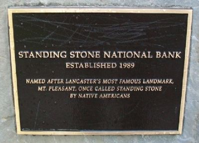 Standing Stone National Bank Marker image. Click for full size.