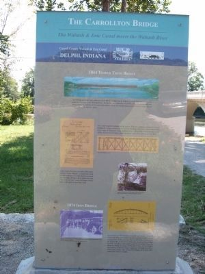 Full Front View - - The Carrollton Bridge Marker image. Click for full size.