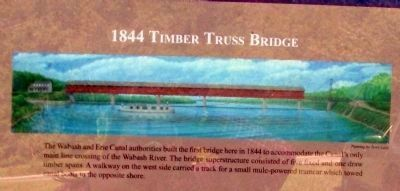 1844 Timber Truss Bridge image. Click for full size.