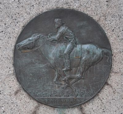 Pony Express Marker Plaque image. Click for full size.
