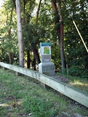 Looking South - - The Wabash & Erie Canal Marker image. Click for full size.