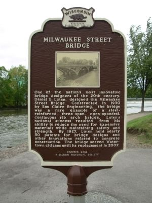 Milwaukee Street Bridge Marker image. Click for full size.