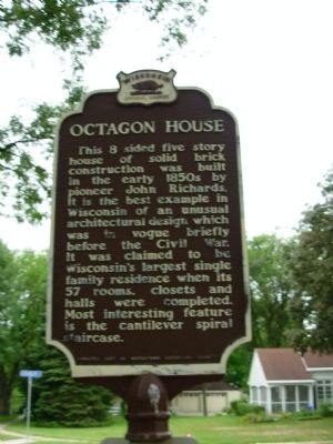 Octagon House Marker image. Click for full size.