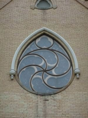 "The ""Rose Window"" Mentioned in the Marker image. Click for full size."