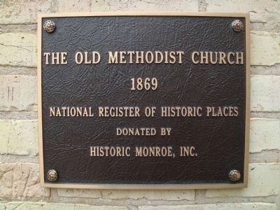 Nearby Old Methodist Church Marker image. Click for full size.