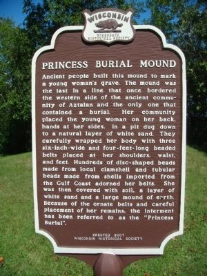 Princess Burial Mound Marker image. Click for full size.