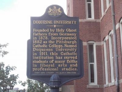 Duquesne University Marker image. Click for full size.