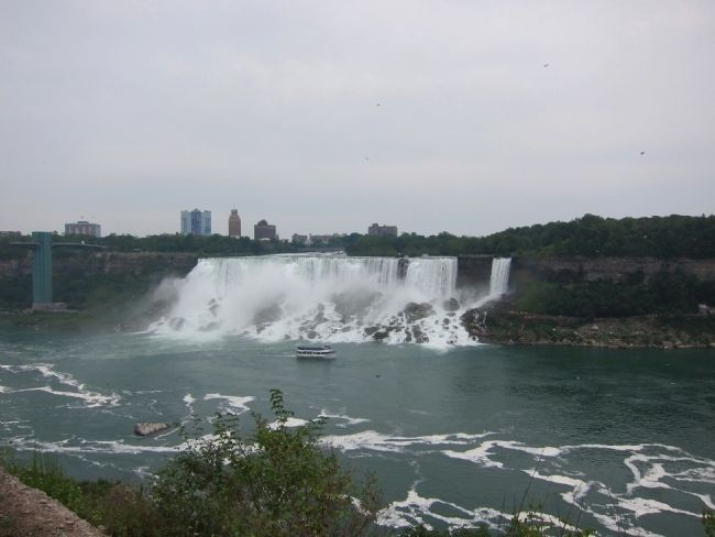 Niagara Falls (the American Falls), as seen from the marker site image. Click for full size.