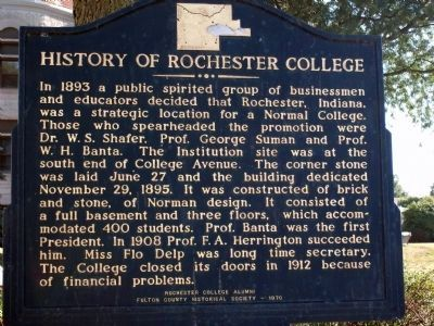 History of Rochester College Marker image. Click for full size.
