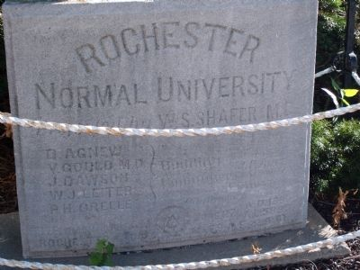 Rochester College - - Corner Stone - laid June 27, 1895 image. Click for full size.