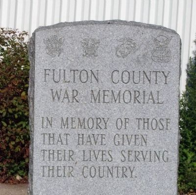 Fulton County War Memorial Marker image. Click for full size.
