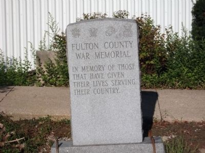 Full View - - Fulton County War Memorial Marker image. Click for full size.