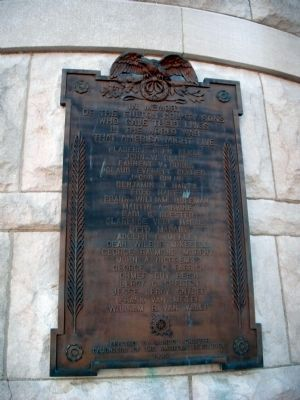 W. W. I War Memorial Marker image. Click for full size.