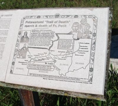 Right - Map Section - - Father Petit and the Potawatomi 'Trail of Death' Marker image. Click for full size.
