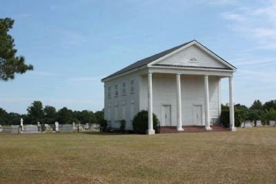 Lynchburg Presbyterian Church and Cemetery , west side view image. Click for full size.