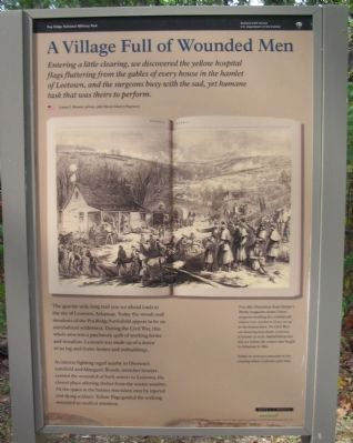 A Village Full of Wounded Men Marker image. Click for full size.