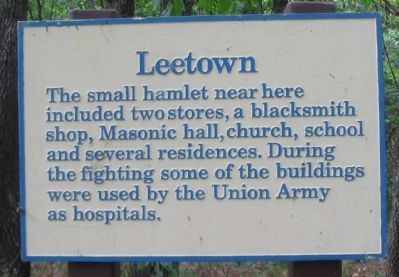 Leetown Marker image. Click for full size.