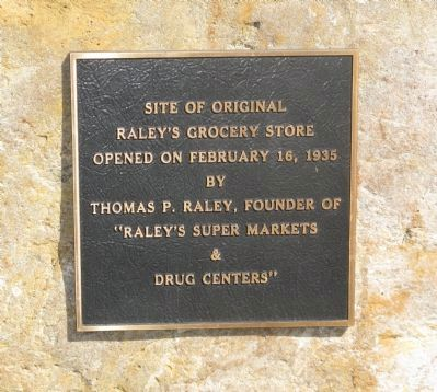Site of Original Raley's Grocery Store Marker image. Click for full size.