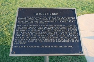 Willys Jeep Marker image. Click for full size.