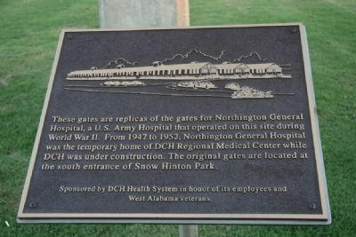 Replicas gates for Northington General Hospital Marker image. Click for full size.
