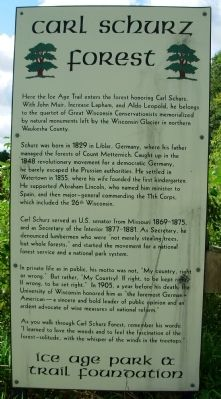 Carl Schurz Forest Marker image. Click for full size.