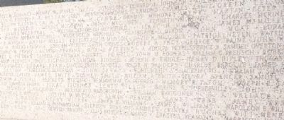 Names of Colonel Fannin's men - inscribed on the face of the monument image. Click for full size.