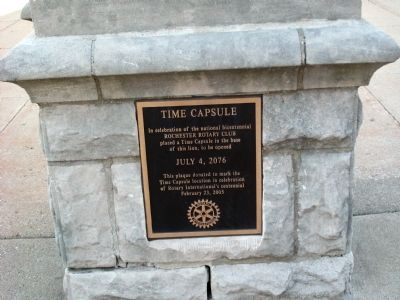 "Plaque on Obverse of West Side "" Lion "" Base - - Time Capsule image. Click for full size."