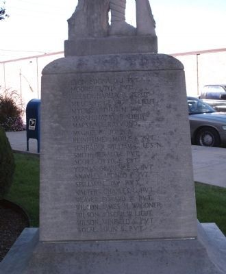 Left Section - - W. W. I War Memorial - Cass County Indiana Marker image. Click for full size.