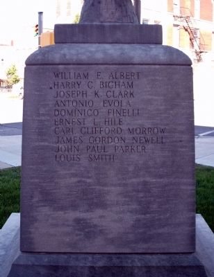 Obverse Section - - W. W. I War Memorial - Cass County Indiana Marker image. Click for full size.