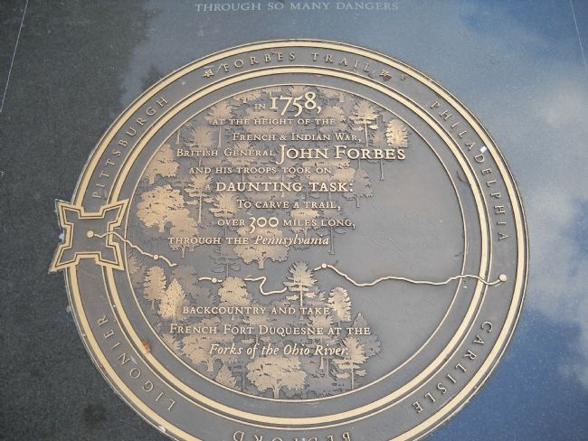 Closeup of Forbes Trail Marker image. Click for full size.